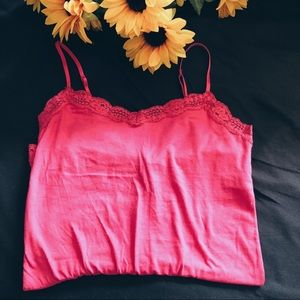 🥥 pink lacy tank 💓